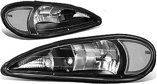 DNA Motoring HL-OH-PGAM99-BK-CL1 Black Housing Clear Side Headlight/Headlamps