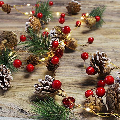 Chaohua Weihnachten LED Tannenzapfen Lichtschnur Weihnachtsbaum Dekoration Lichtschnur 20LED Weihnachtsbaumgirlande