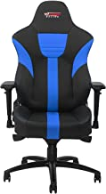 GT OMEGA Master XL Racing Gaming Chair with Lumbar Support - Heavy Duty Ergonomic Office Desk Chair with 4D Adjustable Armrest & Recliner - PVC Leather Esport Seat for Racing Console - Black & Blue