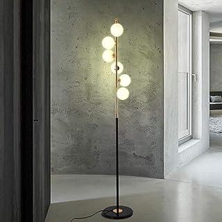 Lampe standard LED lampadaire salon chambre chevet étude post moderne créatif marbre personnalité boule de verre lampe ver...