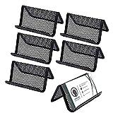 Porta-tarjetas de Visita de Malla Metálicas Tarjeteros de Escritorio Práctico Titular de la Tarjeta de Negocios Soporte de Metal Adecuado para Tarjetas de Visita Teléfonos 6 Piezas (Negro)