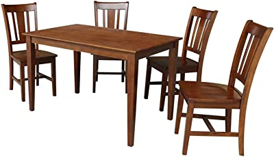 International Concepts 30x48 4 Chairs in Espresso Dining Table