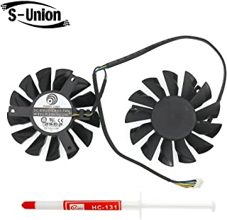 FanEngineer Generic New Rotary DC Fan Brushless/Video Card Cooling Dual Fan for MSI Twin Frozr III RX6950 PLD08010S12HH 4-Pin DC12V 0.35A
