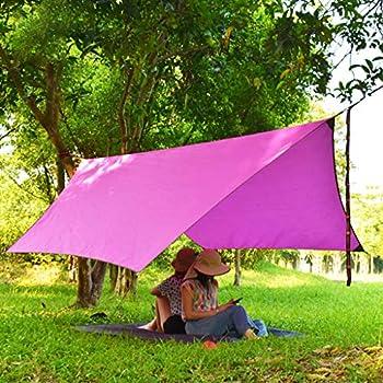 chiwanji Tente de Camping Tente Imperméable Bâche Sun Rain Shelter Ground Cloth - Rose, 360x300cm