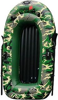 Barca Hinchable Excursi, 2/3/4 personas Juego de canoa de kayak de aire de pesca de alta resistencia con bomba de aire de paleta Barco de pesca resistente al desgaste Kayak inflable para adultos Pesca