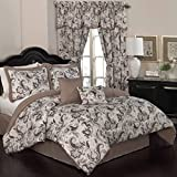 Traditions by Waverly 14931BEDDQUEOYX Rustic Retreat 88-Inch by 88-Inch 6 Piece Queen Comforter, Onyx