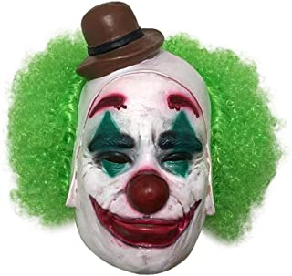 clown mask with green hair