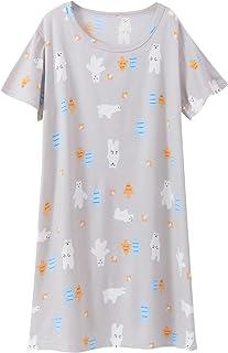 Camicia da notte da bambina in poliestere con colletto rotondo