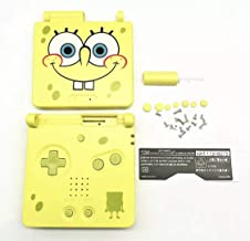 RGRS Replacement SpongeBob Full Housing Shell Case Repair Parts Kit w/Lens & Screwdriver for Nintendo Gameboy Advance SP GBA SP Console…