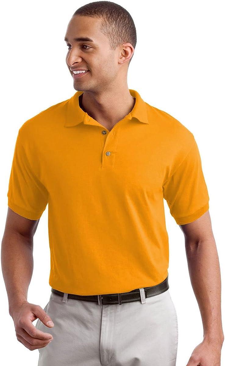 Gildan-8800 DryBlend Jersey Adult Unisex Sport Shirt (Gold, X-Large)