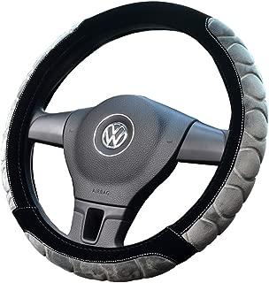 Proumhang Winter Unisex Steering Wheel Covers Short Plush Non-Slip Warm Car Handles Cover Grey 38cm
