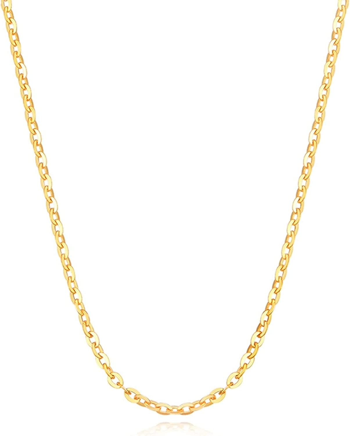 Epinki 18K Rose Price Philadelphia Mall reduction Gold Women Cable Wedding Jewelry Necklace Chain