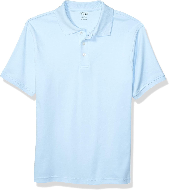 French Toast Boy's Short Sleeve Interlock Uniform Light Blue Polo Shirt