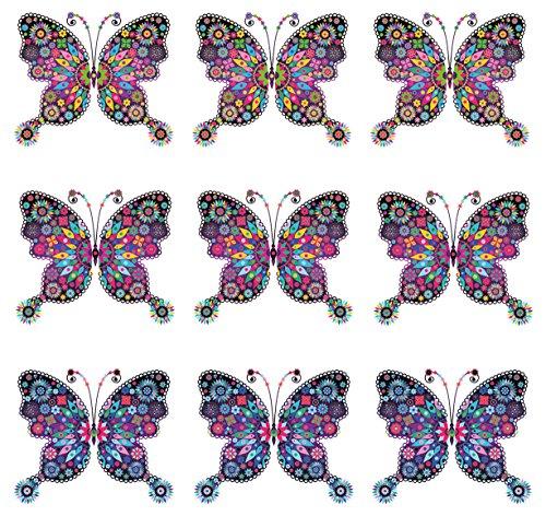 Eurographics Deko Set, Kunststoff, Magnete Vintage Butterflies, 20.5 x 11.5 x 1.8 cm