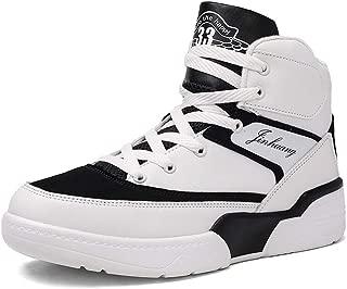 FZUU Men's High Top Sneakers Fashion Street Basketball Sports Casual Shoes