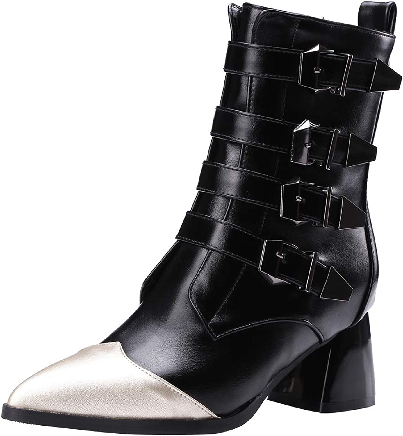 MAYPIE Womens Toadopt Synthetic Zipper Mid-Calf Boots