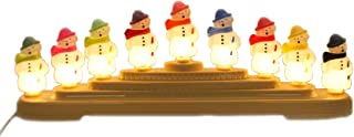 Shiny Brite Snowman CANDOLIER Plastic Electric 9 Lights Christmas 4027595