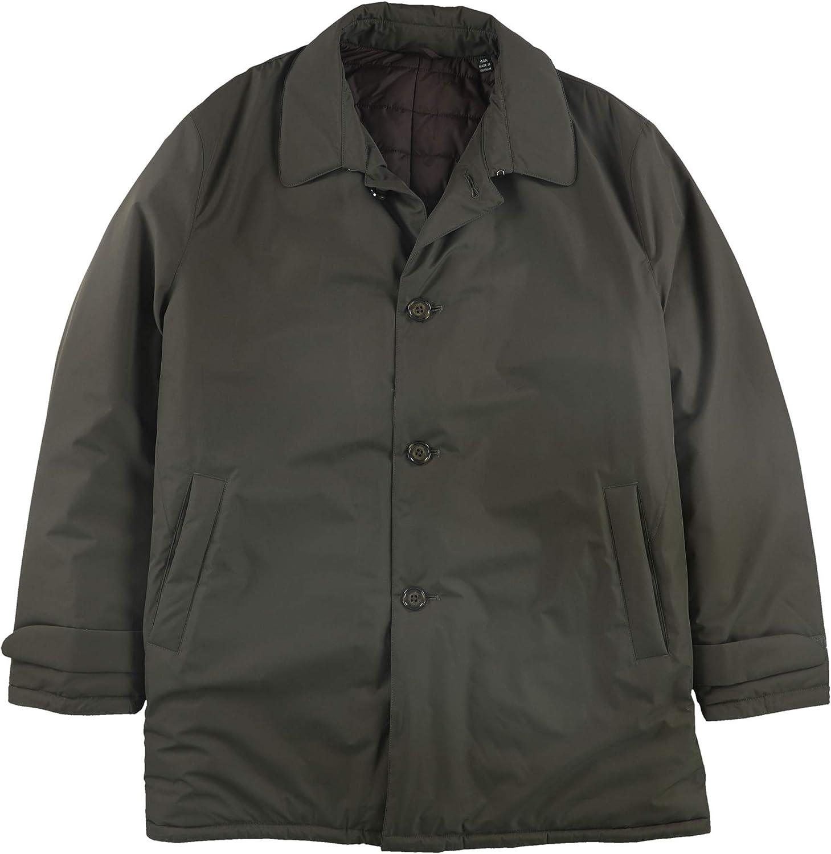 Ralph Lauren Mens Primaloft Overcoat Dress, Green, 46 Long