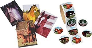 124 Piece Horse Party Favors- Notebooks and Stickers