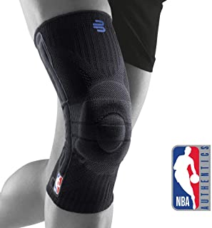 Bauerfeind Sports Knee Support NBA - Officially Licensed Basketball Brace with Medical Compression - Sleeve Design with Omega Gel Pad for Pain Relief & Stabilization
