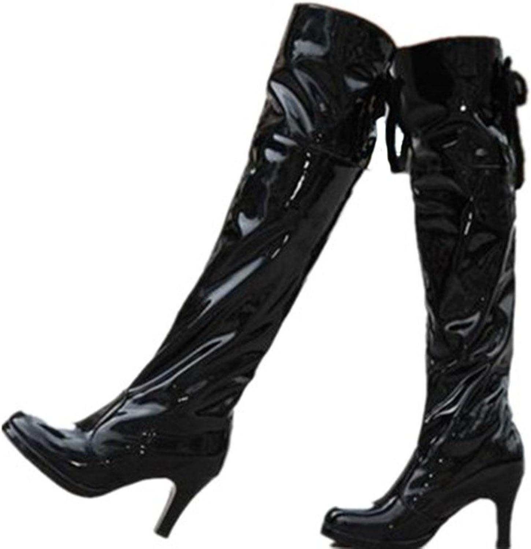 Kitzen Damen Damen Sexy über die Knie Schenkel High Heel Chunky Plattform Pole Tanzen Ritter Stiefel Stretch Stiefel