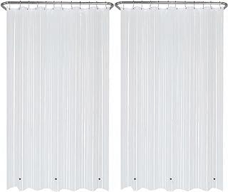 "LiBa PEVA 2 Pack Clear Bathroom Shower Curtain Liners, Mildew Resistant, 72"" W x 72"" H, 8G Heavy Duty Waterproof Shower Cu..."