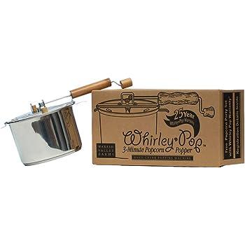 Whirley-Pop Popcorn Popper - Metal Gear - Stainless Steel
