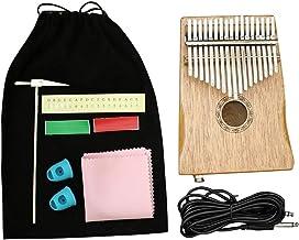 MAODOXIANG Thumb Pianos 17 Key Kalimba African Mahogany Thumb Finger Piano Sanza Mbira Calimba Play with Guitar Wood Music...