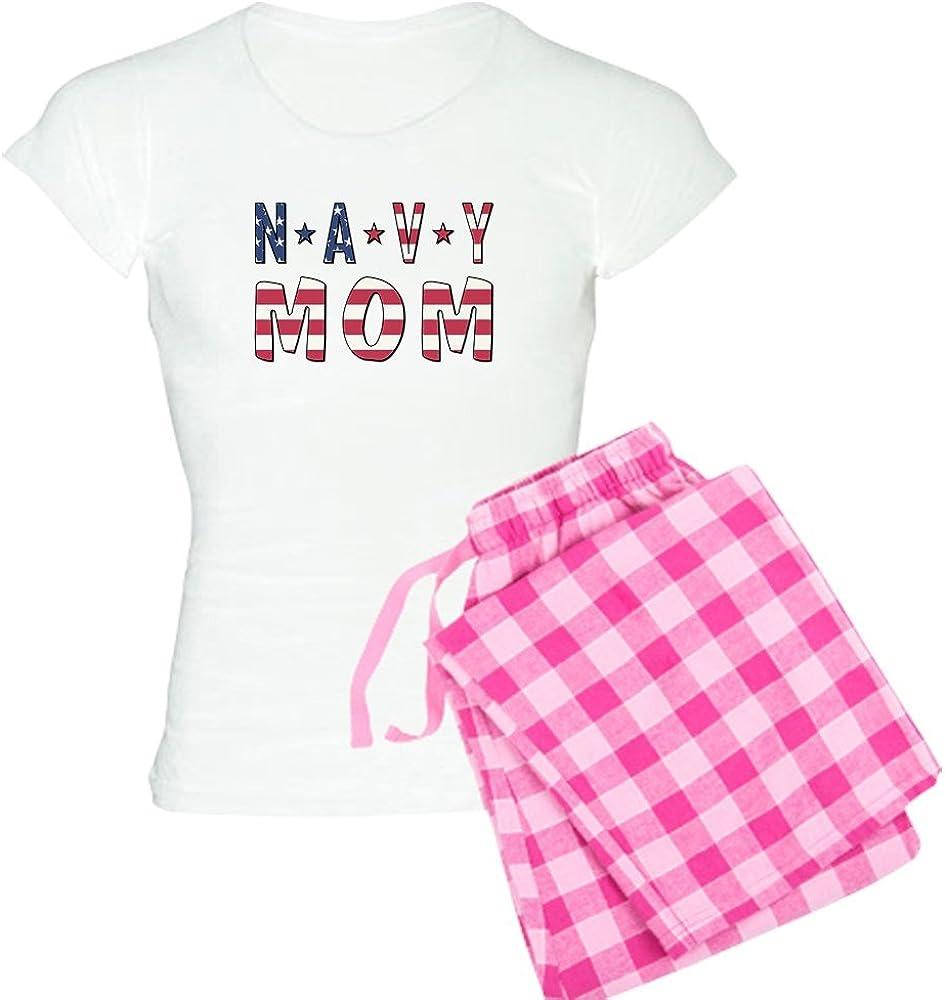 CafePress Navy cheap MOM Women's Max 54% OFF Pajamas PJs