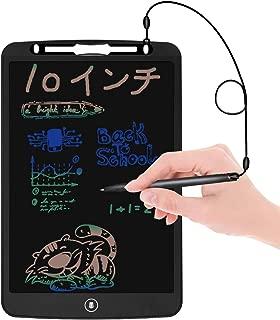 REOTECH 電子パッド 電子メモ 10インチ【改良品-カラー版-より高い輝度】 電子メモ帳 繰り返し書ける 手書きパッド 筆談ボード ワンタッチ消去 デジタルメモ LCD液晶パネル ペン付き 携帯便利 書いて消せるボード 学習 絵描き 打ち合わせ 伝言板 筆談ツール メモ取りなどに対応 電池交換可能