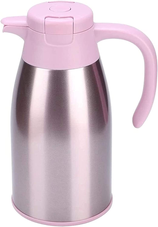 Botella De Café Jarra Térmica Con Aislamiento Al Vacío 1.6L Acero Inoxidable Hogar Exterior Agua (Color: Oro Rosa, Tamaño: 13X26Cm)