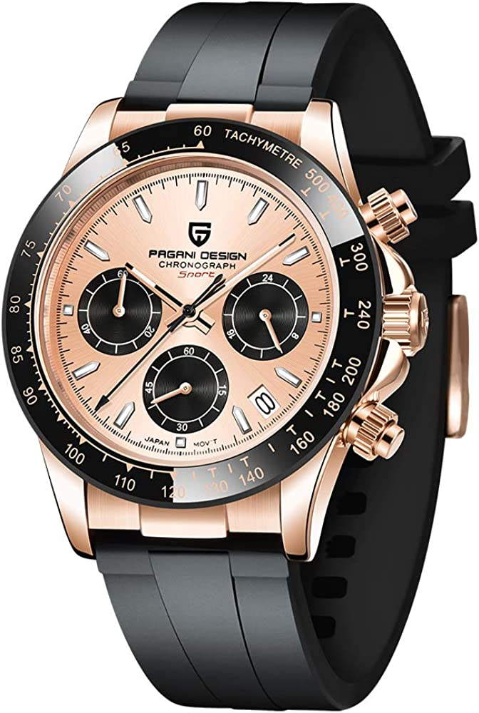 Pagani High material Design Quartz Watches Branded goods Mens Stainless Steel Chronograp Men