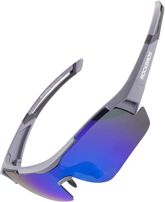 ROCKBROS Gafas de Sol Polarizadas Protección UV400 para Bicicleta MTB Ciclismo Running Pesca Senderismo Deportes al Aire Libre, Unisex