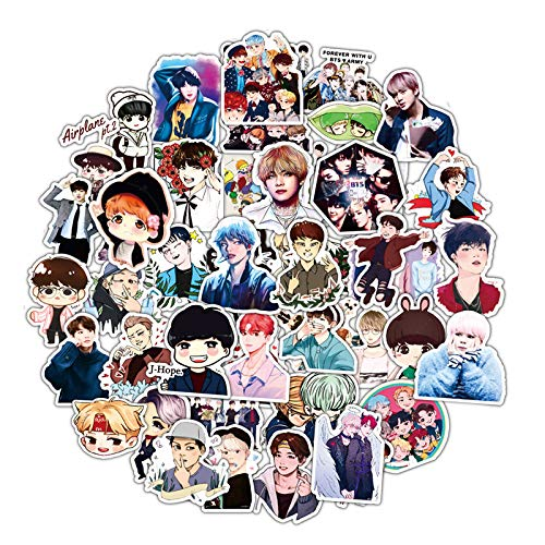 DOFE 50 PCS BTS Stickers 50 PCS Cute Animal Vinyl Decals for Laptop, Laptop Stickers,Motorcycle Bicycle Luggage Decal Graffiti Patches for Teens (50 PCS BTS 2)