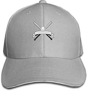 ONE-HEARTHR Adult Baseball Logo Cotton Lightweight Adjustable Peaked Baseball Cap Sandwich Hat Men Women