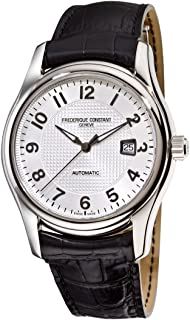 Men's FC-303RM6B6 Runabout Automatic Silver Dial Black Strap Watch