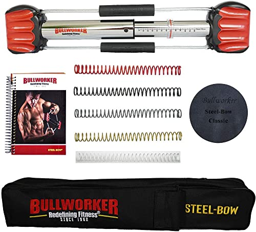 """Bullworker 20"""" Steel Bow - Full Body Workout - Portable Home Gym Isometric Exercise Equipment for Fast Strength Train..."""