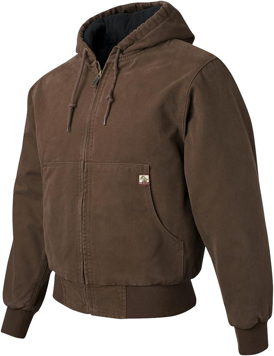 DRI Duck Men's 5020 / 5020T Cheyenne Hooded Boulder Cloth Zip Up Work Wear Jacket with Tricot Quilt Lining