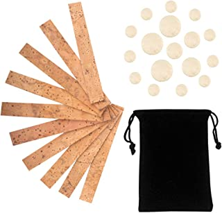 Petift 27 Pieces Clarinet Instrument Accessories Replacement Kits with 10 Pieces Clarinet Neck Joint Cork and 17 Pieces Clarinet Pads Bb Clarinet Woodwind Instrument Pads
