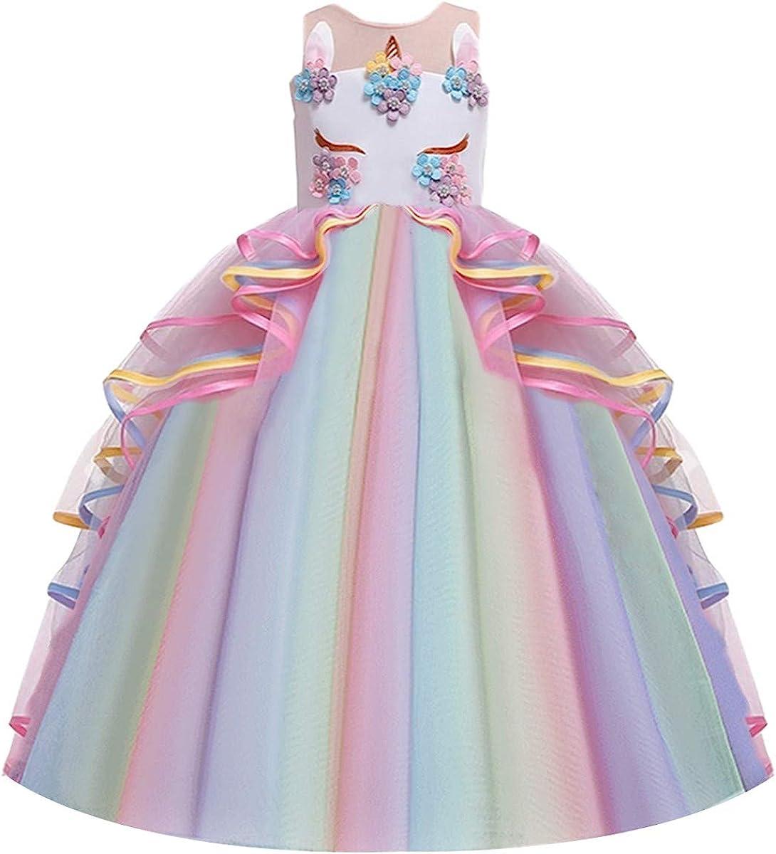 IZKIZF Girls Unicorn Rainbow Princess Party Carnival Minneapolis ! Super beauty product restock quality top! Mall Birthday Co
