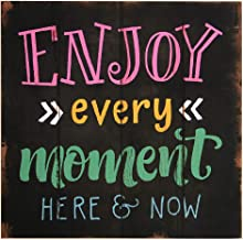 Tredo MDF Multi Color Decorated Board with  Enjoy Every Moment Here   Now  Sign T059