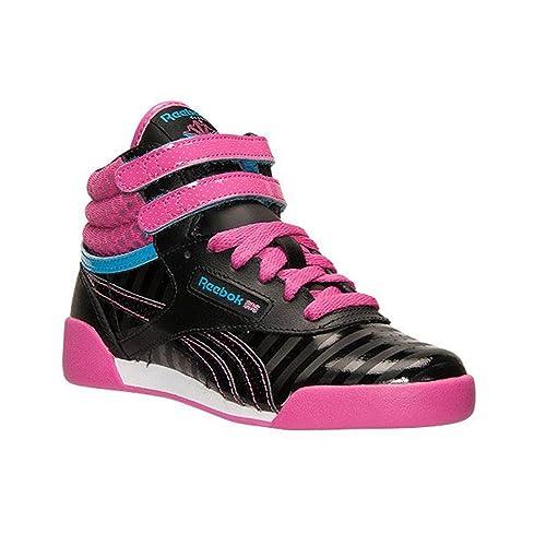 534310fe3b3508 Reebok Girl s Freestyle Hi Sneaker Black