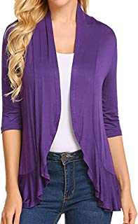 COSYOU Women's Cardigan Sweater Cotton Comfy Cozy Plus Size Drape Lightweight Sweater