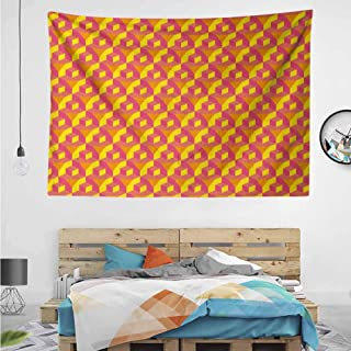 HuaWuChou Cube Prisms Hipster Tapestry DIY, Wall Hanging for Bedroom Living Room Dorm, 36W x 24L Inches