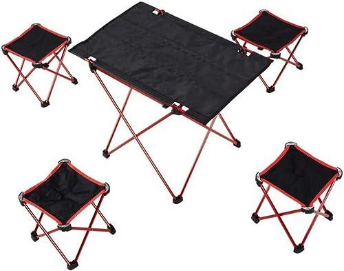 Limeinimukete Tables et chaises Pliantes Portables à l'extérieur (Couleur   rouge)