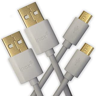 2X 3ft Micro USB Bundle White 2xIPAX-IC-10L1