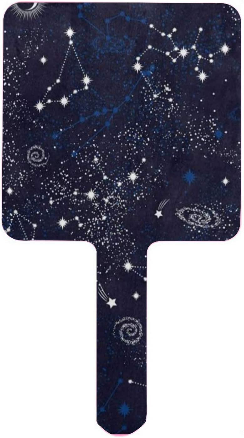 XfaithX Hand Mirror Space Galaxy Zodiac Nebula Constellation Sta High order Luxury