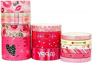 YUBX Valentine Washi Tape Set 14 Rouleaux Masking Tape Ruban adhesif decoratif pour Scrapbooking Artisanat de Bricolage (V...