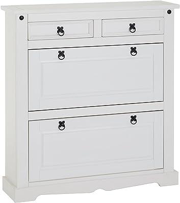 IKEA HEMNES Schuhschrank mit 4 Fächern; in weiß