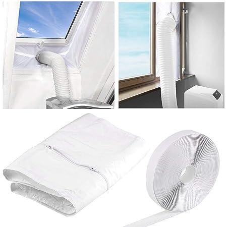 Faburo 400CM Tissu De Calfeutrage De Fenêtres Joint de Fenêtre Kit De Calfeutrage Pour Climatiseurs,Sèche-linge et Déshumidificateurs